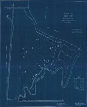 Briars Golf Club route plan preliminary study, 1928