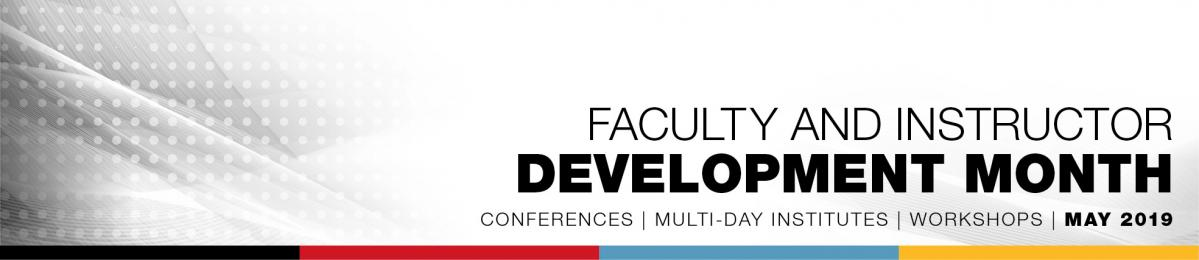 Faculty and instructor development month