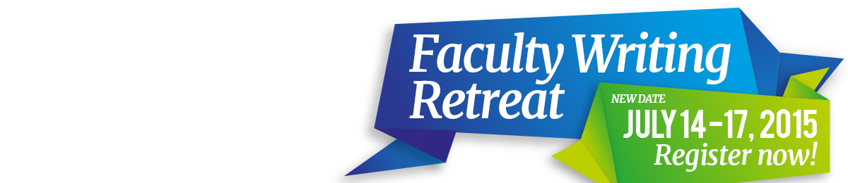Faculty Writing Retreat Banner