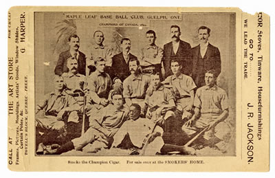 Maple Leaf Base Ball Club, Guelph, Ont. Champions of Canada, 1894 XR1 MS A801 (Box 17, File 1)