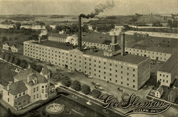 Illustration showing the Sleeman brewery and residence XR1 MS A801 (Box 7, File 36)