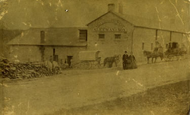 Photograph of the Silver Creek Brewery (ca. 1860s) XR1 MS A801 (Box 7, File 37)