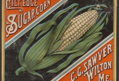 Advertisement of corn from the 20th century